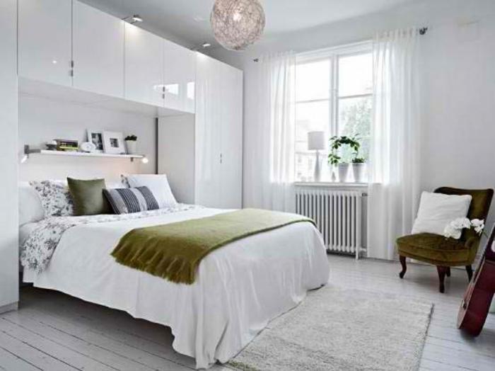 kleine wohnung einrichten schwebende regale schlafzimmer