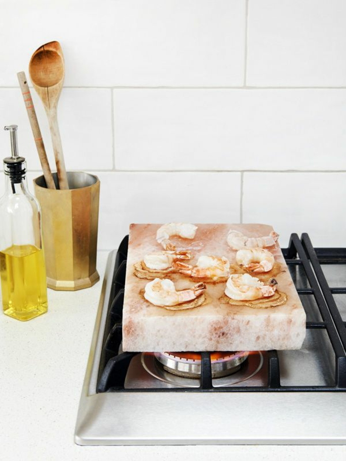 kochen auf himalaya salz block anwendung