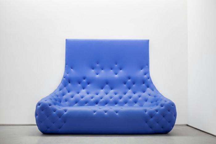 ledermöbel robert stadler monochromes designer ledersofa blau
