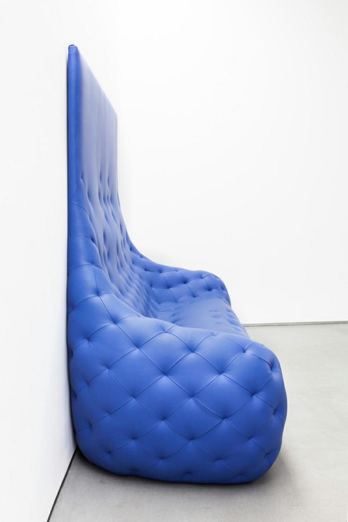 ledermöbel robert stadler monochromes ledersofa blau