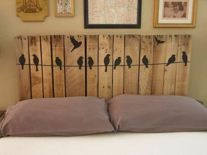 möbel aus paletten holz bettkopf selber bauen