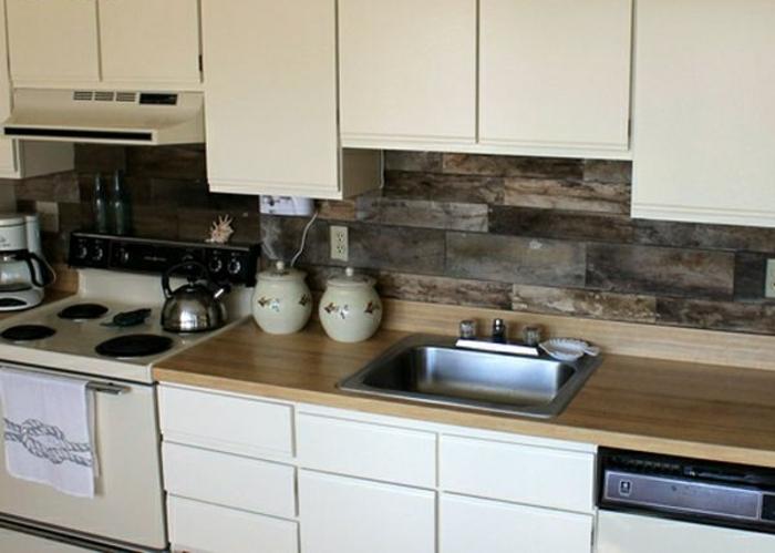 möbel aus paletten küchenrückwand aus holz