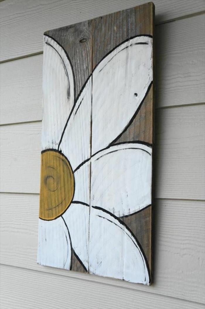 möbel aus paletten kreative wanddekoration