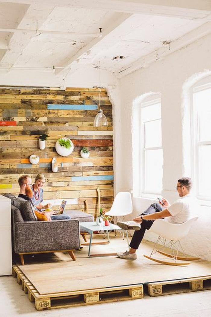 möbel aus paletten wandverkleidung und wohnzimmermöbel