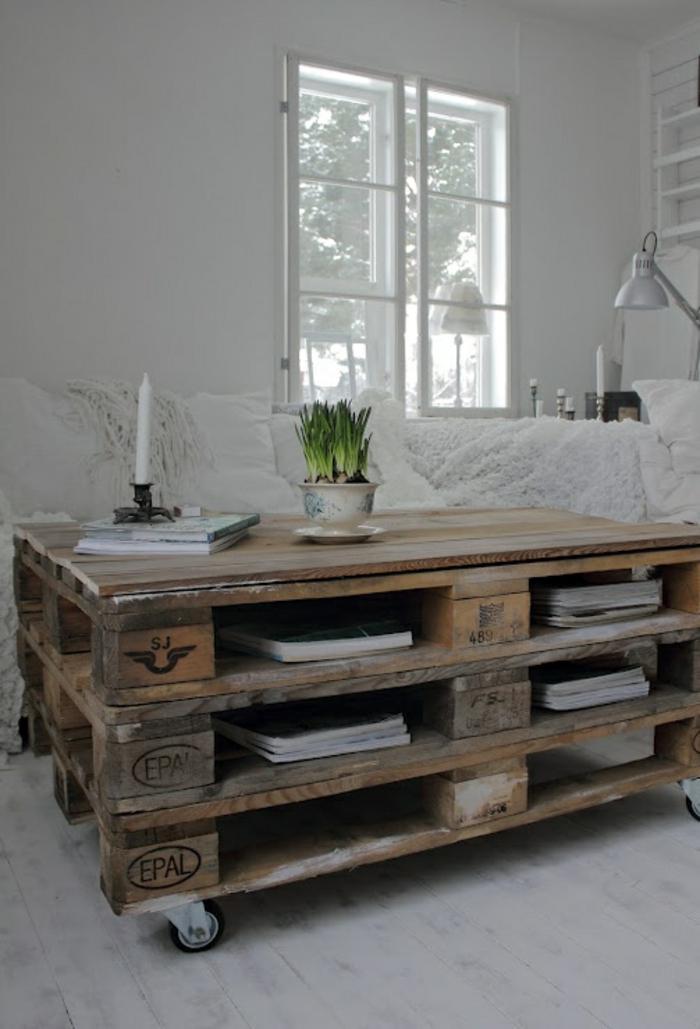 möbel aus paletten wohnzimmertisch aus europaletten bauen