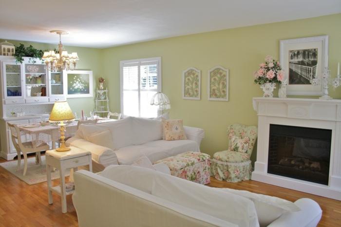 möbel landhausstil shabby chic stil wohnzimmer
