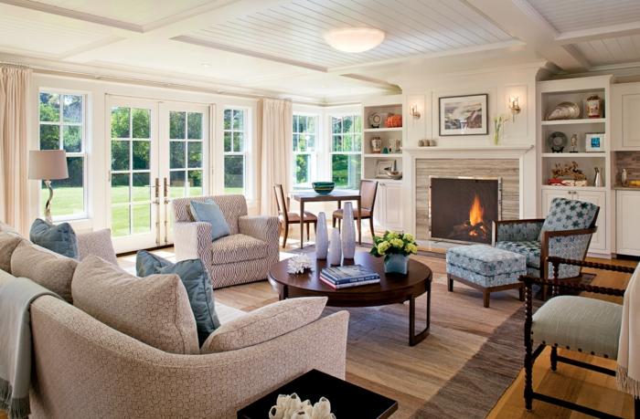 möbel landhausstil wohnzimmer gestalten gemütliches interieur