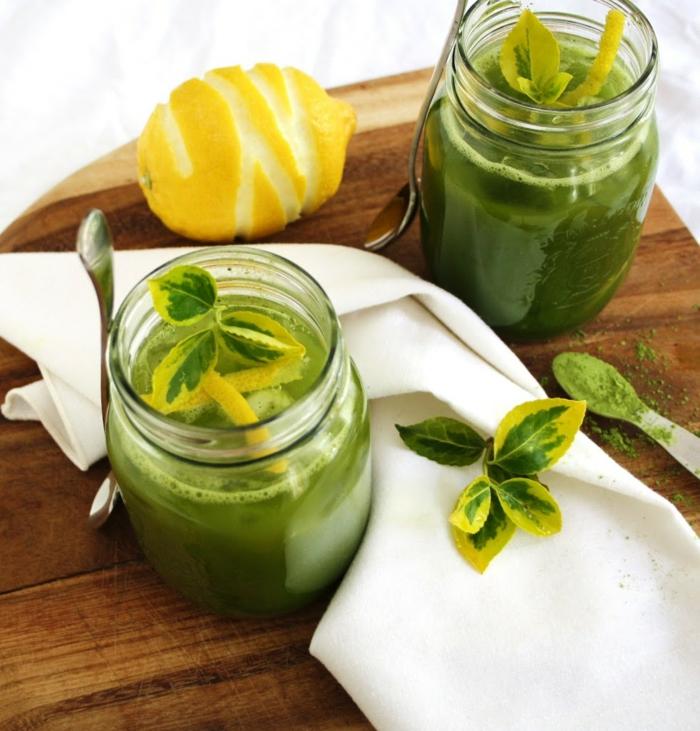 matcha tee gesund balance hausgemachte limonade