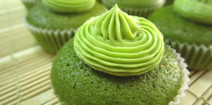 grüner tee gesund leckere cupcakes