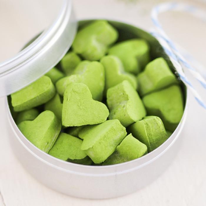 matcha tee gesunde süßigkeiten minzbonbons