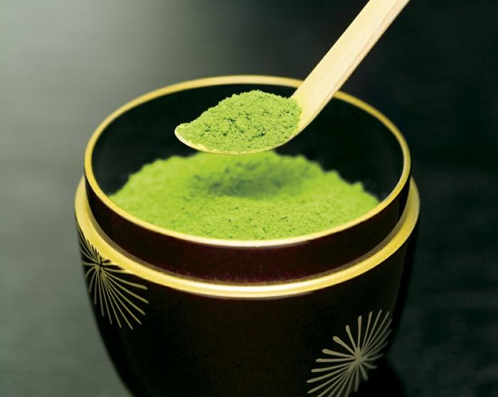 grüner tee grünes pulver japanisch