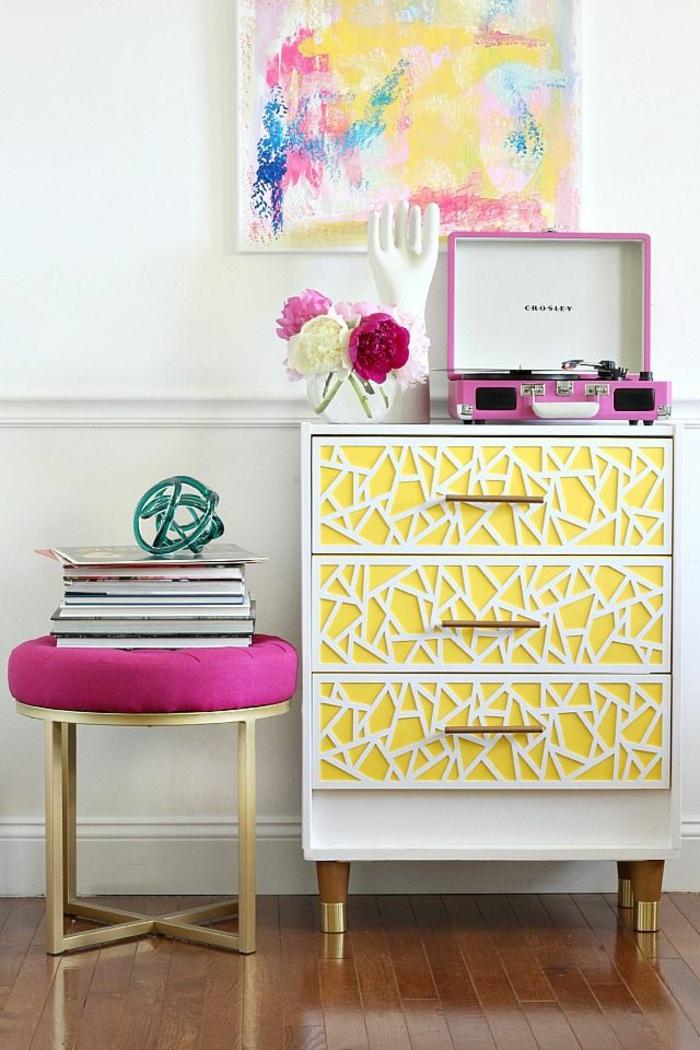 minions pantone farben trendfarben gelb anrichte