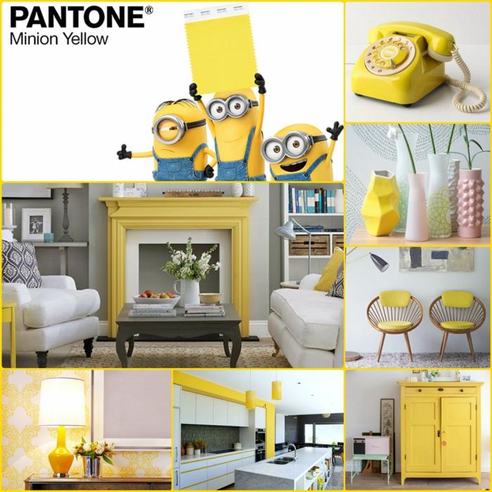 minions pantone farben trendfarben gelb ideen
