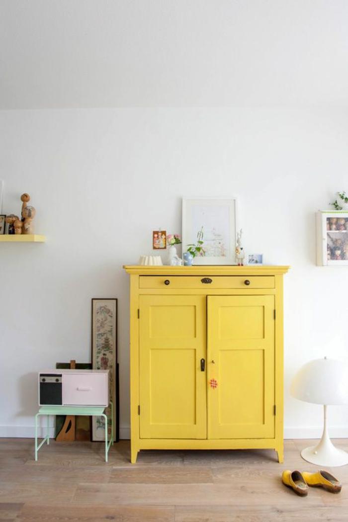 minions pantone farben trendfarben gelb vintage anrichte