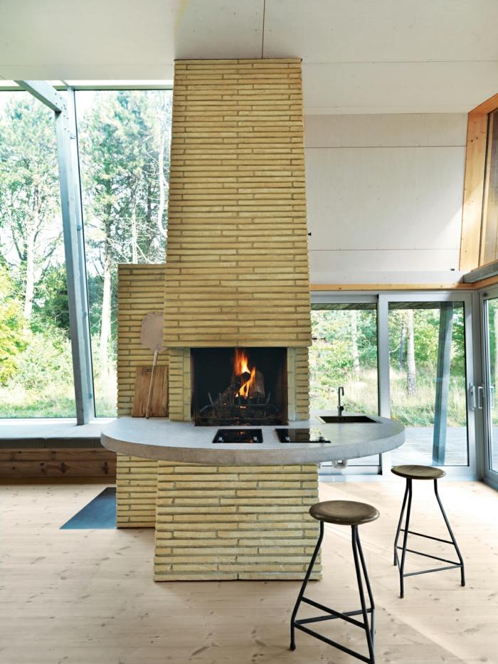 moderne kamine cooles innendesign schöne wohnideen