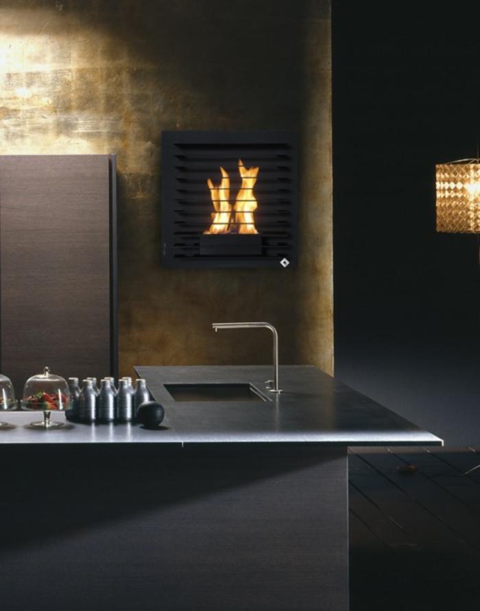 moderne kamine elegantes design küche