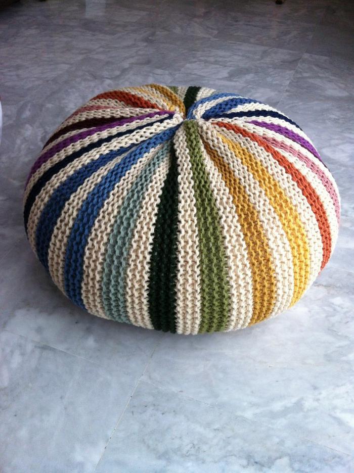 moderne möbel farbiger hocker gestrickte puffs