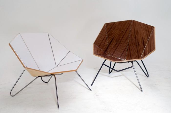 moderne stühle tolles design origamiähnlich