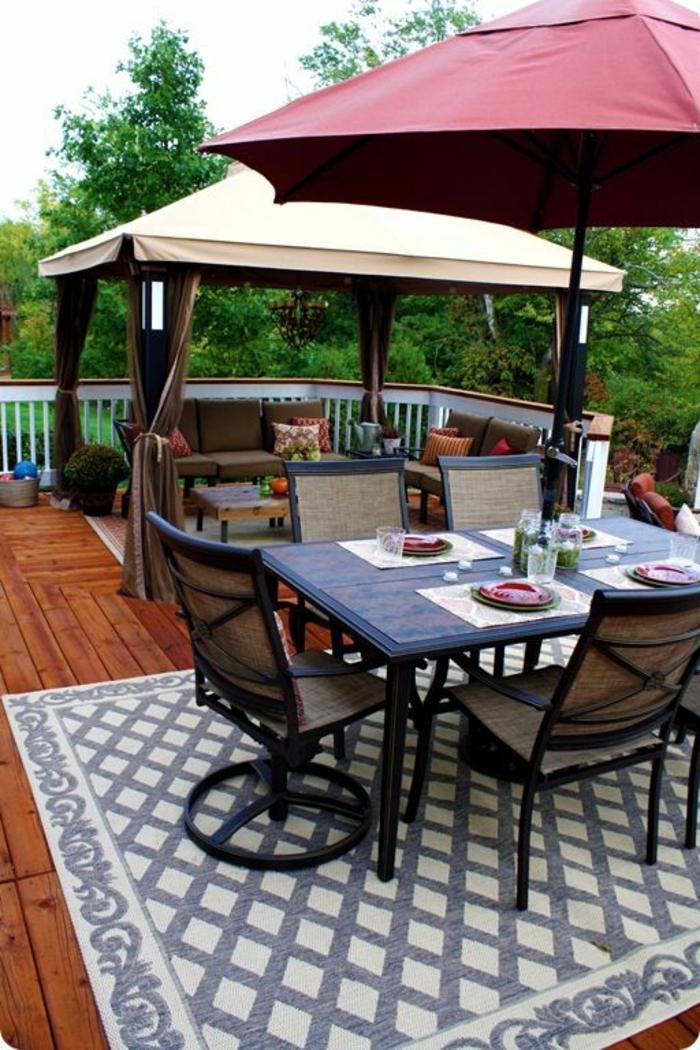 moderne teppiche außenmöbel outdoor teppich