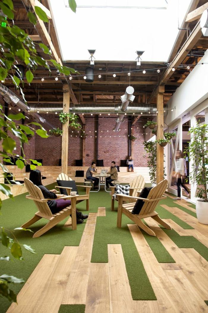 moderne teppiche außenmöbel holzboden rasenteppich modern