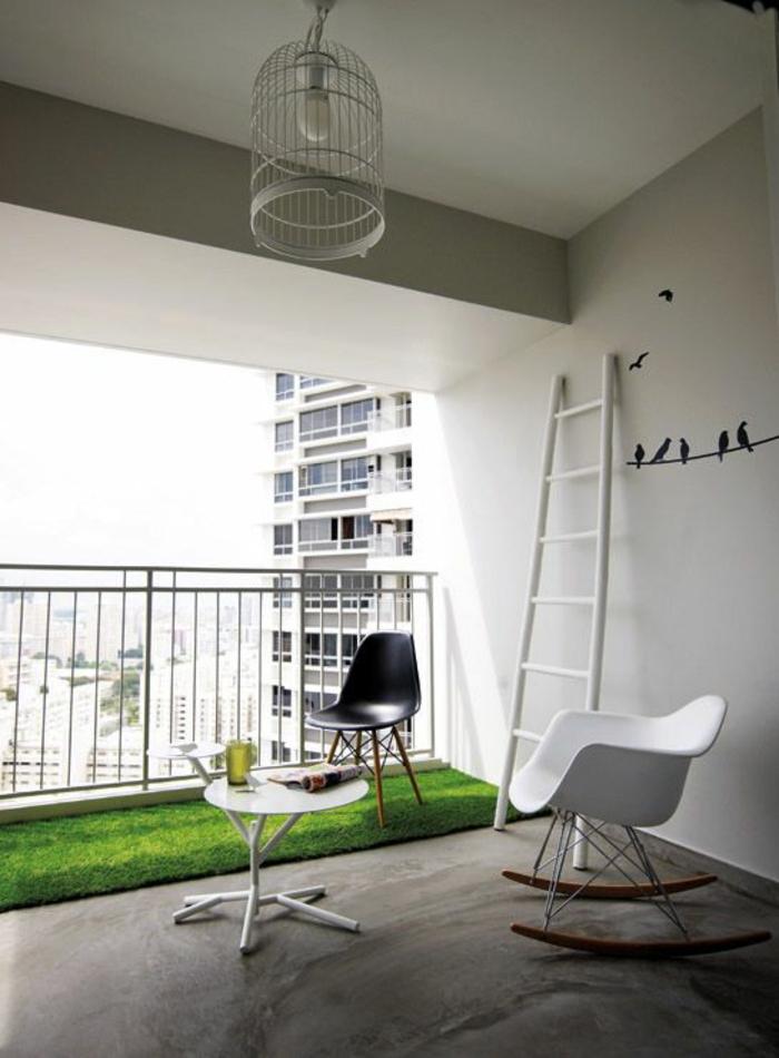 moderne teppiche künstlicher rasenteppich terrasse