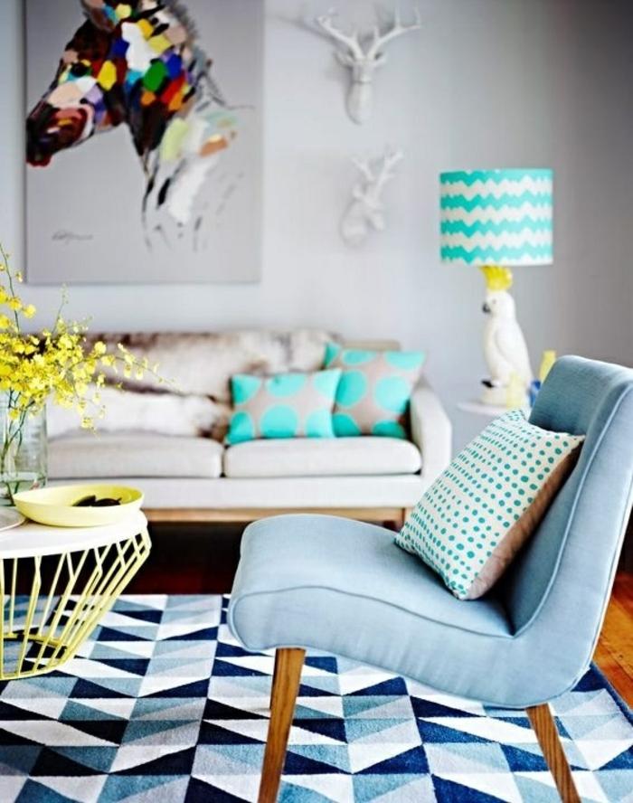 moderne teppiche traumteppich farbig geometrie muster