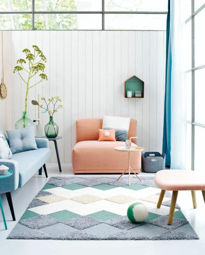 moderne teppiche traumteppich geometrische formen flauschig