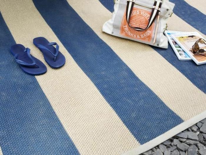 moderne teppiche traumteppich maritimer outdoor teppich blau weiß