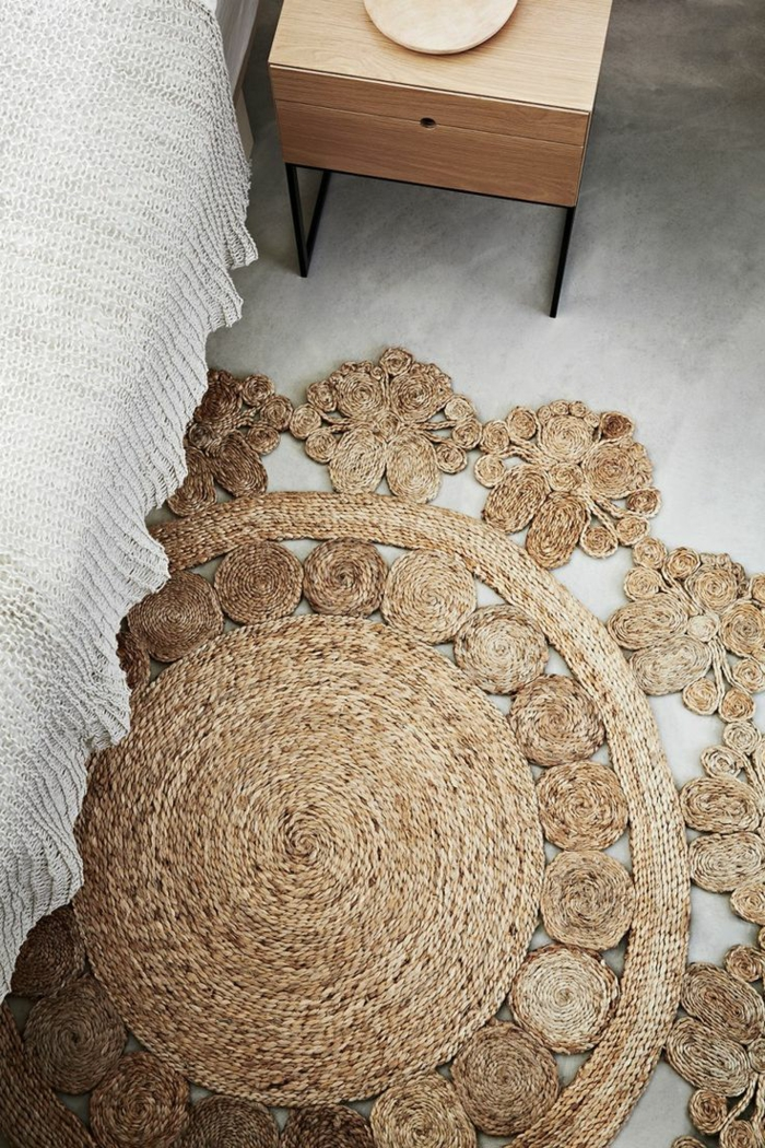 moderne teppiche traumteppich rattan bettvorleger