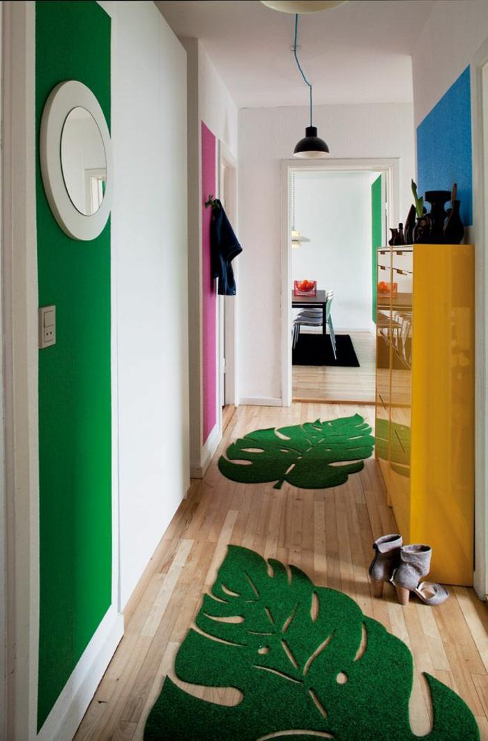 moderne teppiche und läufer flurmöbel grüner trend