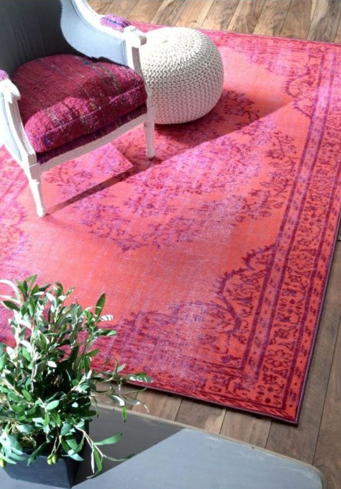 Moderne Teppiche Und Möbel Rot Sessel Rattan Sitzkissen