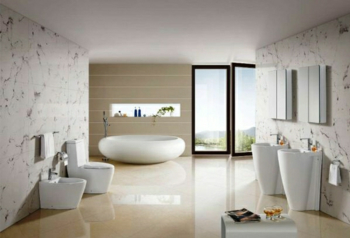 Modernes Bad Einrichten Badegestaltung In Beige