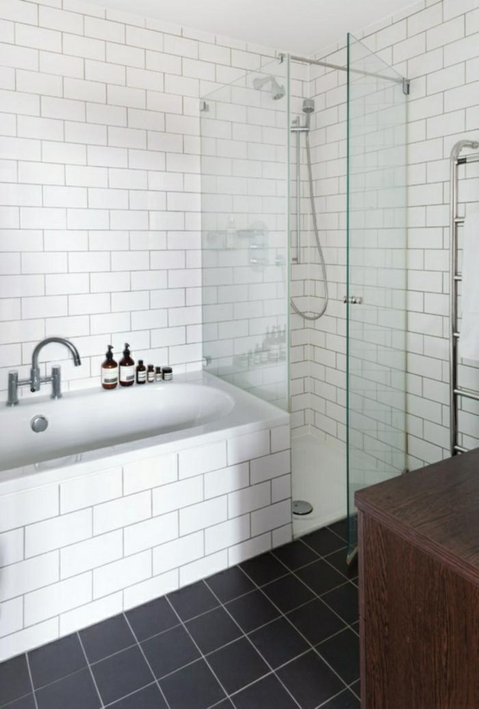 modernes bad einrichten badmöbel weiß badfliesen