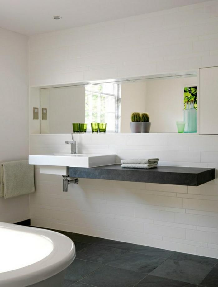 badezimmer einrichten badmöbel weiß granit badfliesen