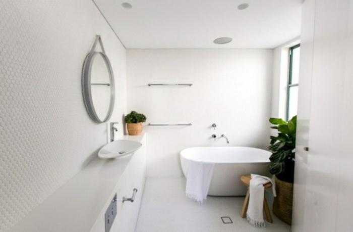 modernes bad einrichten badmöbel weiß wanddeko