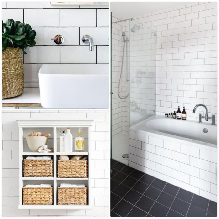 modernes bad einrichten weiße badfliesen badmöbel