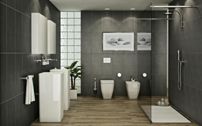 modernes bad gestaltung badmöbel weiß badfliesen