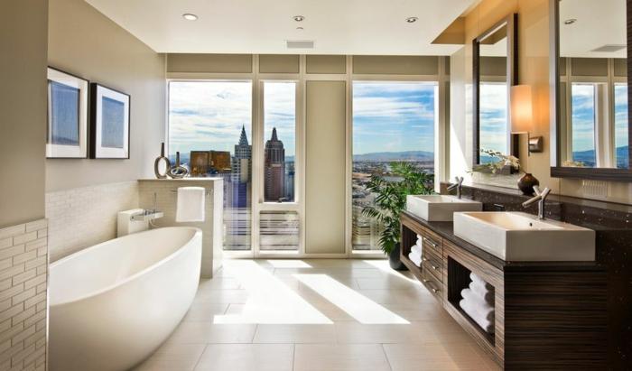 modernes badezimmer badewanne oval