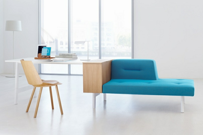 modulares sofa und designer büromöbel schreibtisch holz
