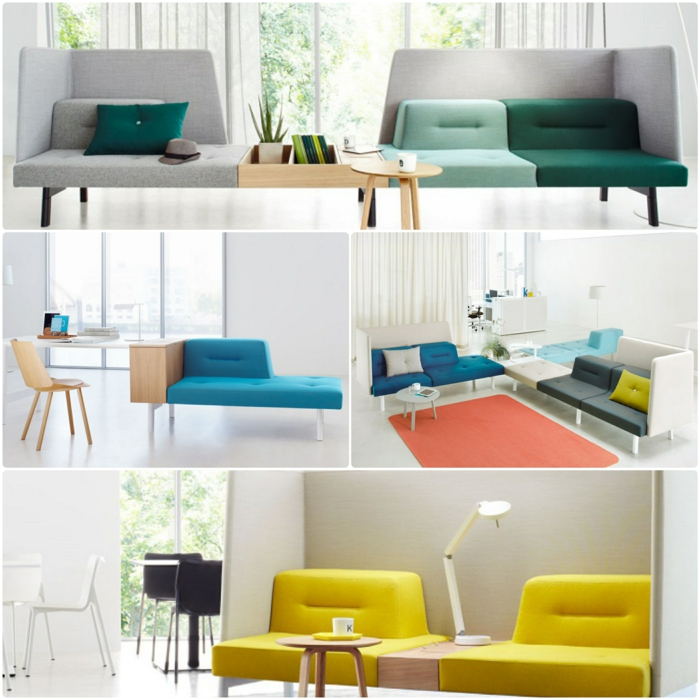 Modulares sofa aber nicht im wohnraum sondern im b ro for Sofas rinconeras modulares