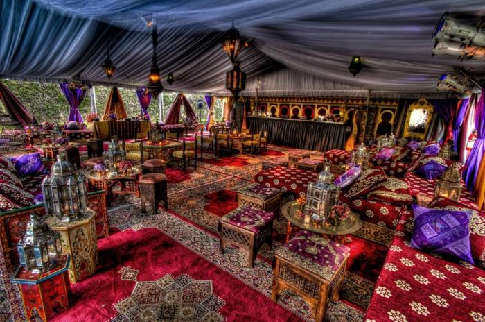 orientalische deko laternen hängeleuchten kelime textilien florale muster