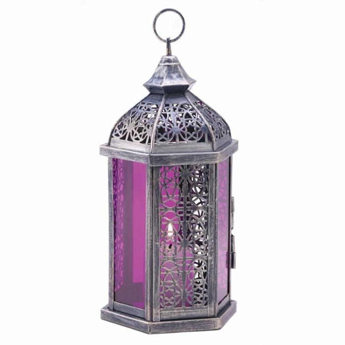 orientalische deko metallene laterne silber