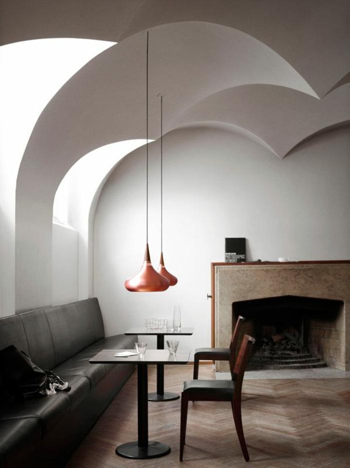 orientalische lampen einrichtungsstil wohnzimmer kamin und möbel