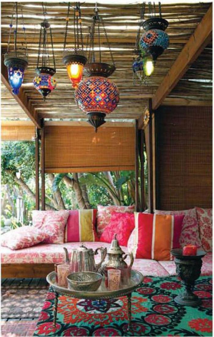 orientalische lampen laternen aus marokko außenmöbel garten
