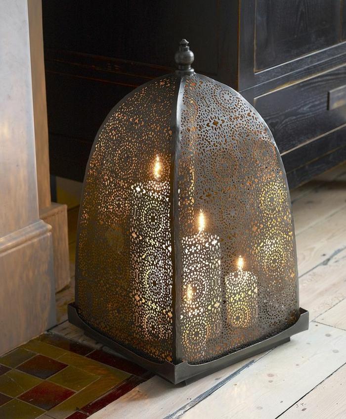 orientalische lampen und laterne mit kerzen orientalischer stil