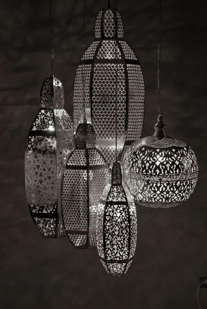 orientalische lampen und laternen aus metall