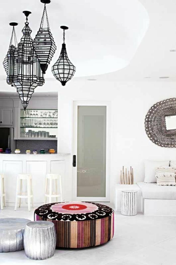 orientalische lampen und laternen sitzkissen