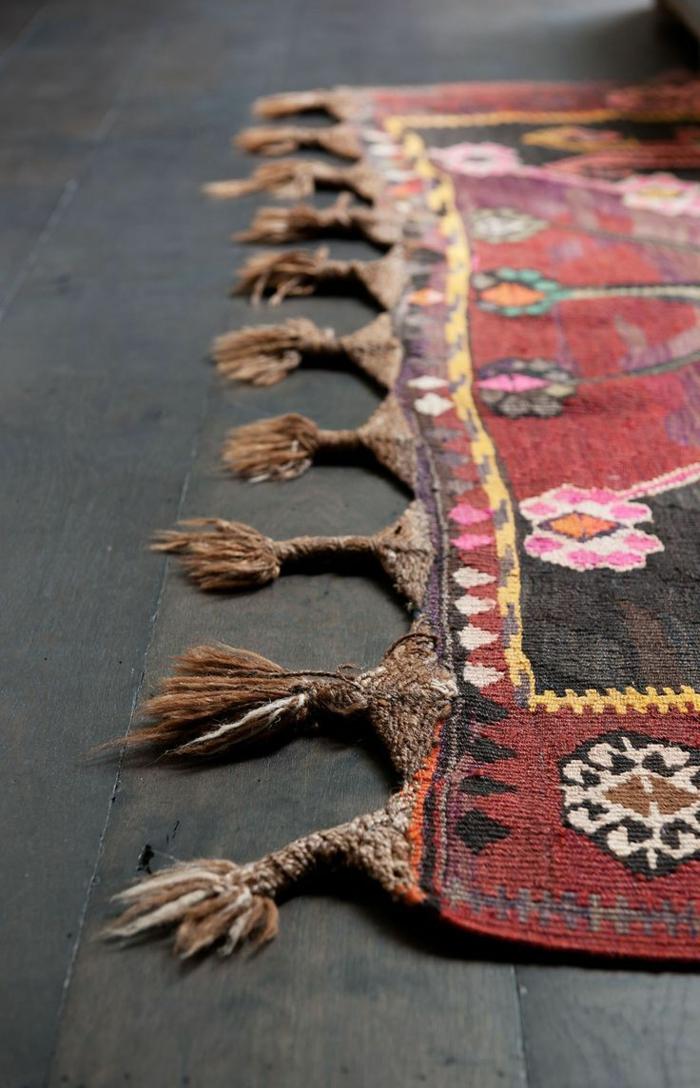 orientteppich mit fransen perserteppiche wohnzimmer teppichboden