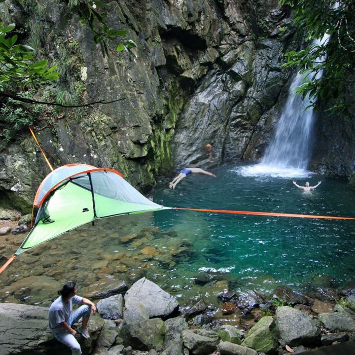 outdoor zelt tentsile wasserfall camping zelte sommerurlaub