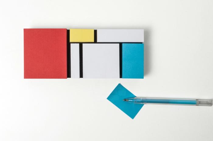 pa design bürozubehör erinnerungszettel im mondrian stil